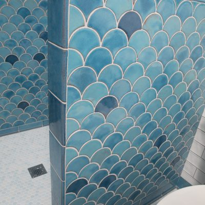 Robins Egg Blue Modern Bathroom Tile Peacock Perspective